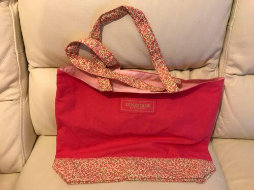 L/'Occitane Pink Beach Bag NEW