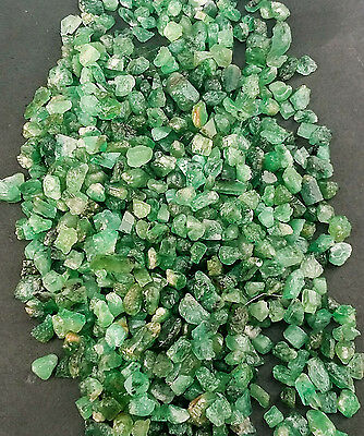 500 Cts Natural Brazilian Emerald Collectible Loose Rough Gemstone= 1x2mm--3x5mm Crafts