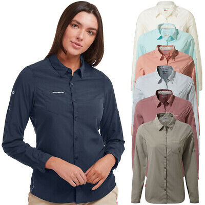 Craghoppers Womens//Ladies Bardo Insect Repellent Long Sleeve Shirt