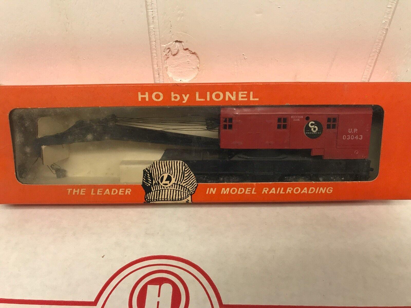 Tren Lionel Escala HO Coche 0879 Union Pacific grúa Coche Vintage Caja Original
