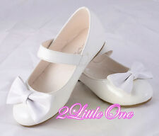 Bows Mary Janes Shoes Toddler US Size 6.5-13 EU 22.5-30 Flower Girl Pageant #011