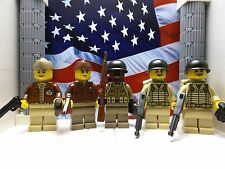 LEGO 5x WWII Americans: 505th Para, 555th para, Glider Pilot & Pathfinders
