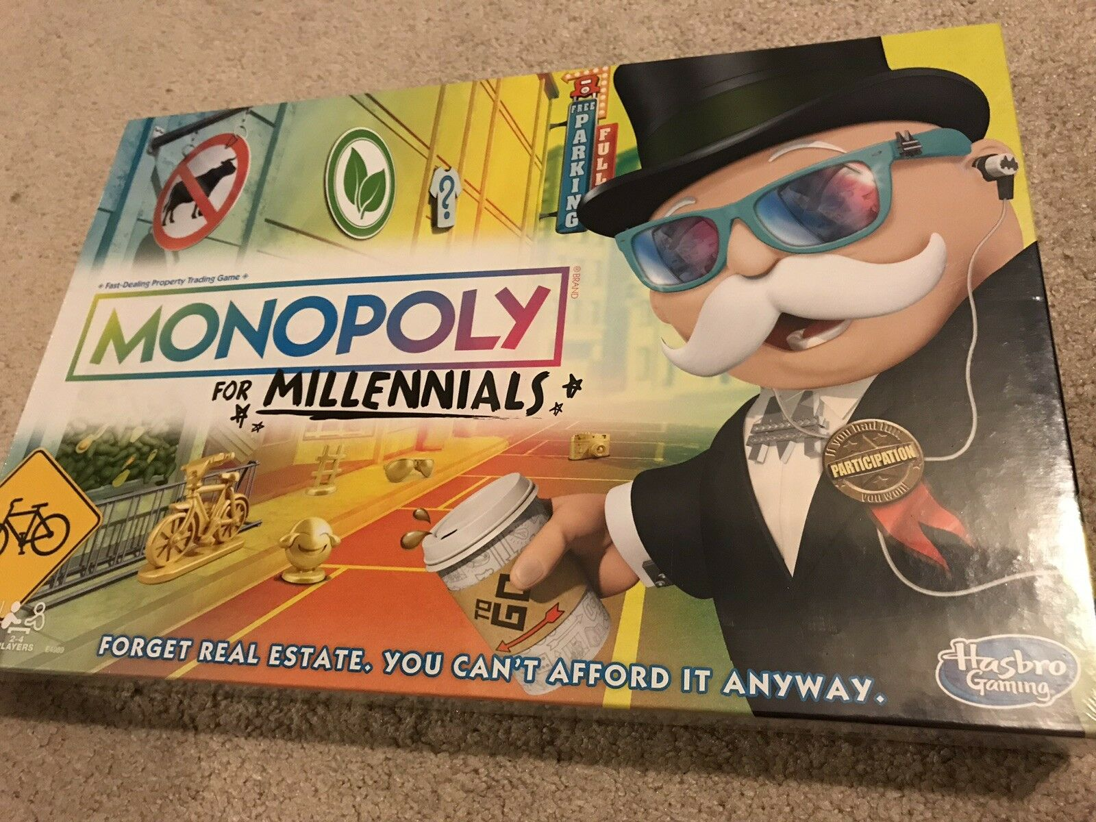 MONOPOLY FOR MILLENNIALS BOARD GAME IN HAND SHIPS TODAY IN TIME FOR CHRISTMAS
