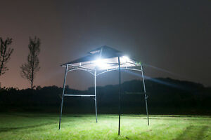 Outdoors Bbq Grill Gazebo Garden Metal Canopy Tent Party