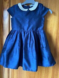 Girls-Occasion-Dress-Age-4-5-Years-Navy-Blue-Marks-amp-Spencer-s-Sleeveless