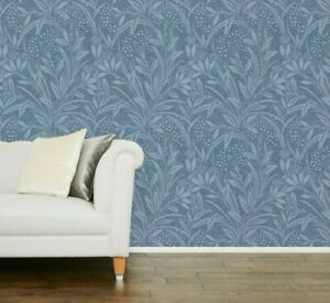 Batch Number May Vary Laura Ashley Lille Steel Wallpaper