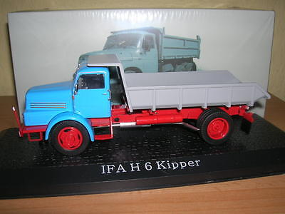 Kind-Hearted Atlas Ifa H6/h 6 Construction Site Kipper Blue 1:43 Truck Camion Toys, Hobbies