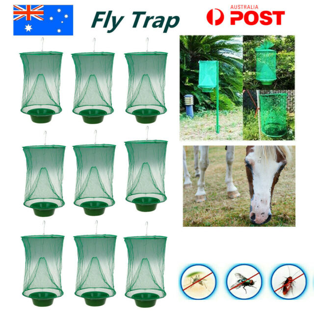 Ranch Fly Trap Insect Killer Net Cage Trap Outdoor Bug Pest Hanging Catcher AU