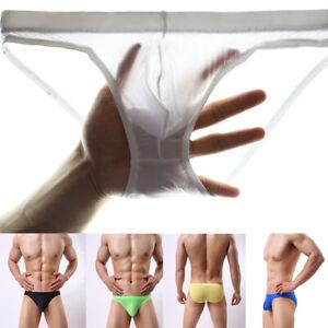 Mens-Underwear-Underpants-Briefs-Seamless-Ice-Silk-Breathable-Bulge-Panty-Summer