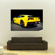 Chevy C7 Z06 Corvette Giant HD Poster Super Car Huge Print 54x36 Inches