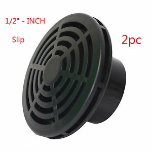 """- Lifegard Aquatics 1/2"""" 2pc Inch Fit Low Profile Slip Screen Strainer Excellent Quality Able"""