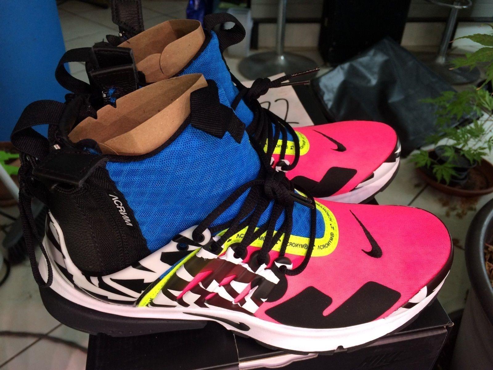 Nike Air Presto Mid Utility x Acronym scarpe RACER rosa  6 US Eu 40 Jp 25