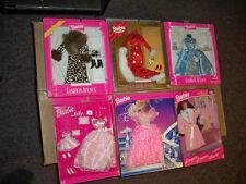 3 Barbie Fashion Avenue, 1 Barbie/Kelly set, 1 Fantasy Evening & Pink robe NRFB