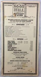 Details About Vintage Fort Worth Stockyards Restaurant Menu Boot Hill Restaurant Saloon