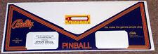 PARAGON Pinball Machine Apron Decal Set