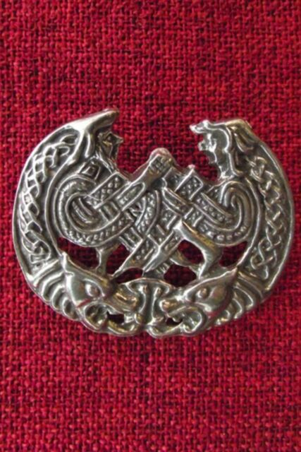 Celtic Lovers Brooch Pin Endless Knot Love Kells Iona Valentine Silver Pewter
