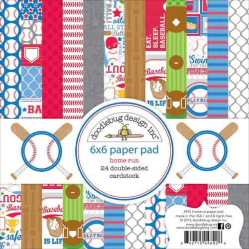 Doodlebug ~ HOME RUN ~ 6x6 Paper Pad