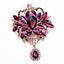 Betsey-Johnson-Big-Crystal-Rhinestone-Flower-Dangle-Charm-Women-039-s-Brooch-Pin thumbnail 7