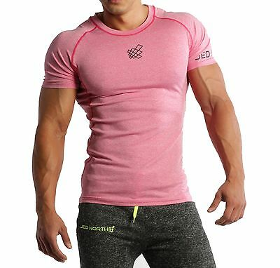 d0672abd2a8c Men's Short Sleeve Compression Tee Muscle Bodybuilding Workout Slim Fit T  Shirt
