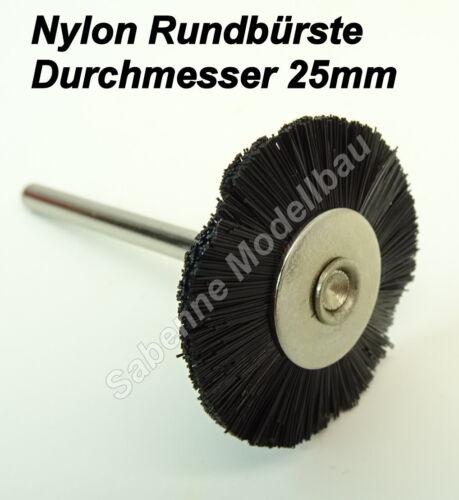 Messing Stahl Nylon Bürste Topfbürste Pinselbürste Dremel Proxxon Multitool