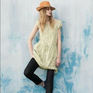 0df5e6bf794e Image is loading ANTHROPOLOGIE-dress-Tunic-Size-6-green-eyelet-embroidery-