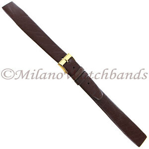16mm-Hirsch-Brown-Genuine-Nappa-Calf-Leather-Unstitched-Open-Ended-Band-LONG