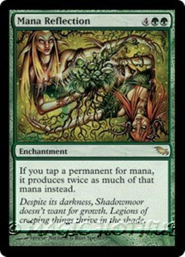 MANA REFLECTION Shadowmoor Shadowmoor Shadowmoor MTG Green Enchantment RARE 929ecd