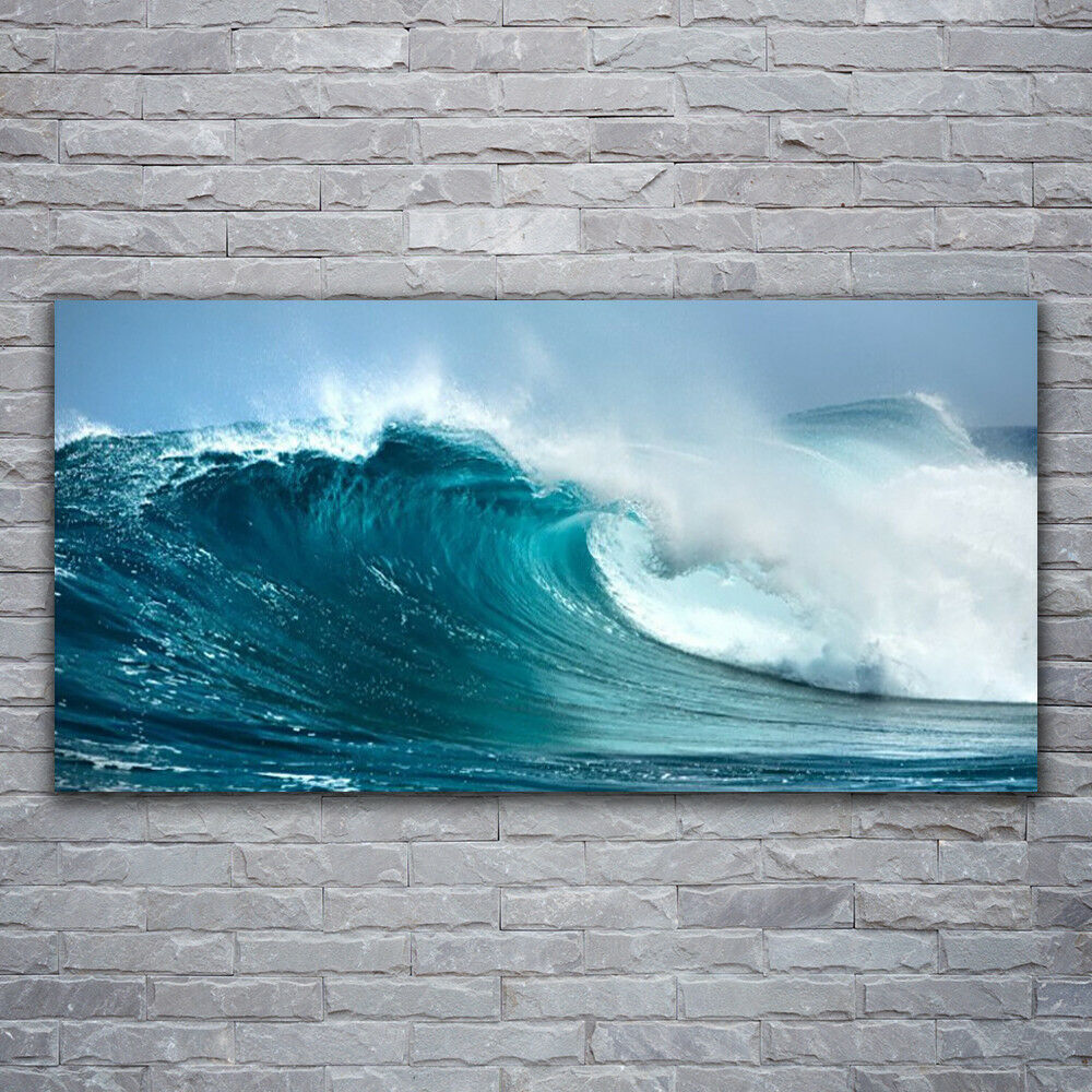 Photo sur toile Tableau Image Impression 120x60 Paysage Vague