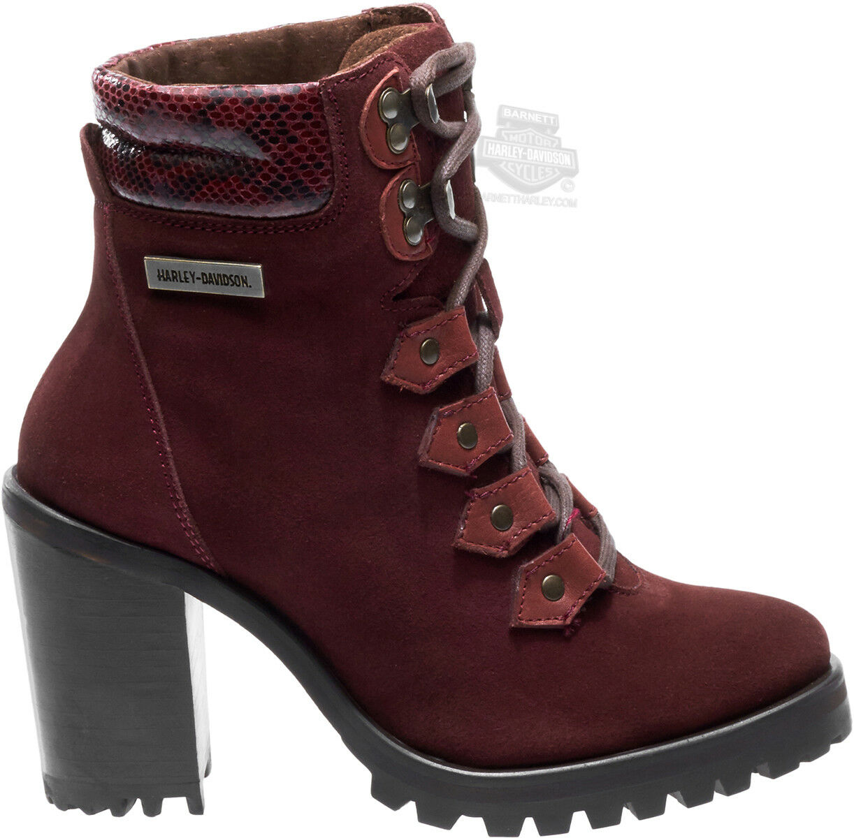 Harley-Davidson® Womens Catterick Burgundy Suede Low Cut Boot D83982