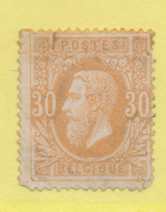 Belgium Stamp Scott 34 Unused No Gum Tear Ebay
