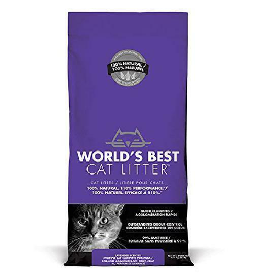 World's best gatto Lettiera, formazione di aggregati, Biodegradabili Lavanda 12.7kg