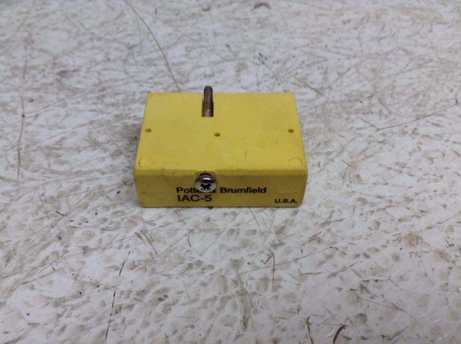 POTTER /& BRUMFIELD IAC-5 INPUT MODULE 120VAC 5VDC NNB!!