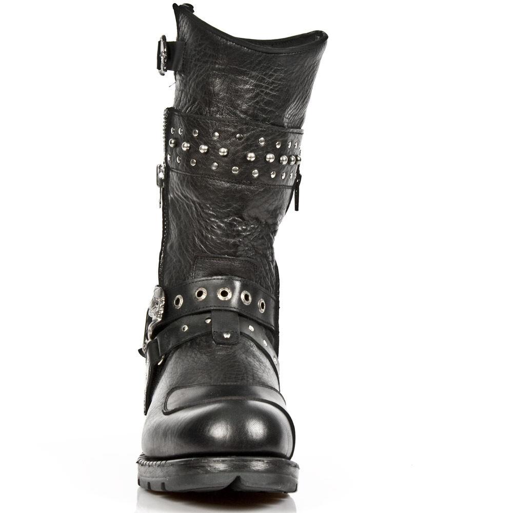 Newrock m.mr022 S1 S1 S1 Nero-New ROCK Punk Gotico Stivali Biker-Unisex 4c0078