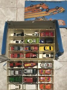 3-Vintage-Hot-Wheels-24-Car-Collector-039-s-Case-1980-with-72-Total-Cars-Free-USPS