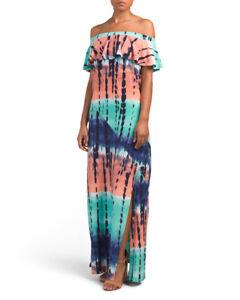 Details about Derek Heart Tie Dye High Slit plus size maxi dress Size 1X~NEW