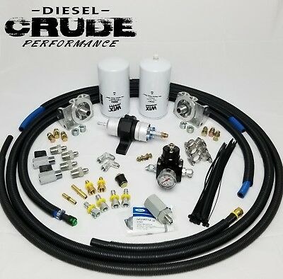 94 97 Obs Ford 7 3l Powerstroke Complete Electric Fuel Pump Conversion Kit Ebay