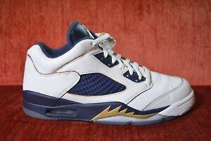 timeless design 25081 edd58 Details about CLEAN Nike Air Jordan 5 V Retro Low Dunk From Above White  Size 8 819171-135