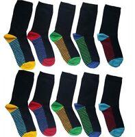 10 Pairs kids socks BOYS/KIDS/CHILDREN'S COTTON RICH SCHOOL  COLOUR HEAL THRFDG