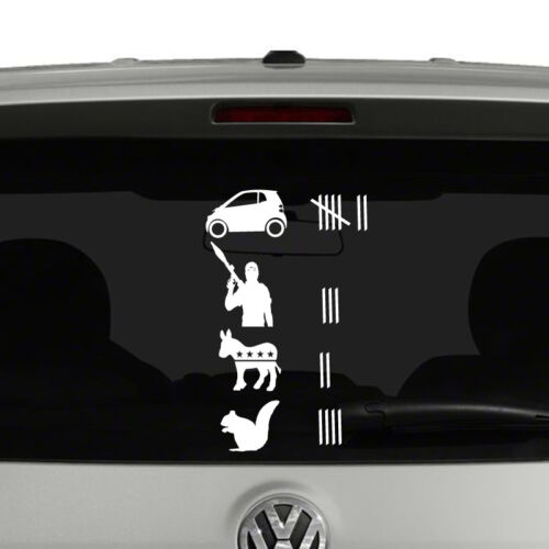 Road Kill Tally Score Vinyl Decal Sticker Funny Off Road Truck SUV