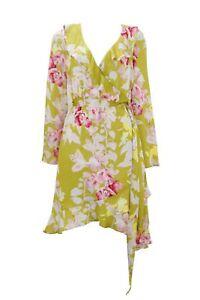 Multi Wrap Wallis Lime Ruffle 12 Floral Dress 4wFBaq