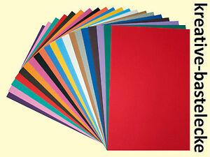 Bastellschaum 10 Farben Moosgummi Schaumstoffplatte 10x15cm 50 Platten 0284