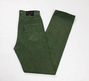 Levis-444-W32-L36-tg-46-jeans-uomo-usato-denim-verde-vintage-boyfriend-T3612