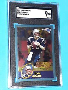 Tom Brady 2003 Topps Chrome Weekly Wrap Up #148 PSA 9