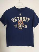 Vintage MLB Detroit Tigers Graphic Printed T-Shirt Youth Medium VF Imagewear