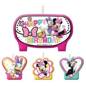 Minnie Mouse Happy Helpers Mini Candle Set 4pc Birthday Party