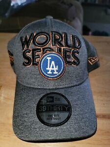 LA Dodgers 2017 World Series Champions New Era Locker Room Hat Cap 39Thirty Flex