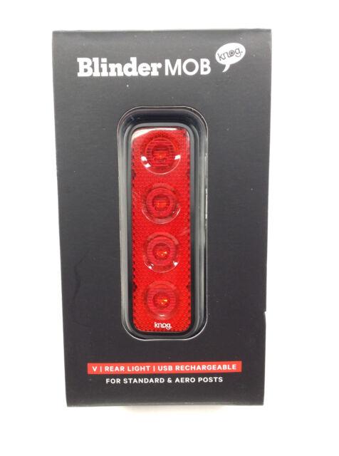 KNOG Blinder 1 Cross USB Rechargeable Rear Light Red LED Green