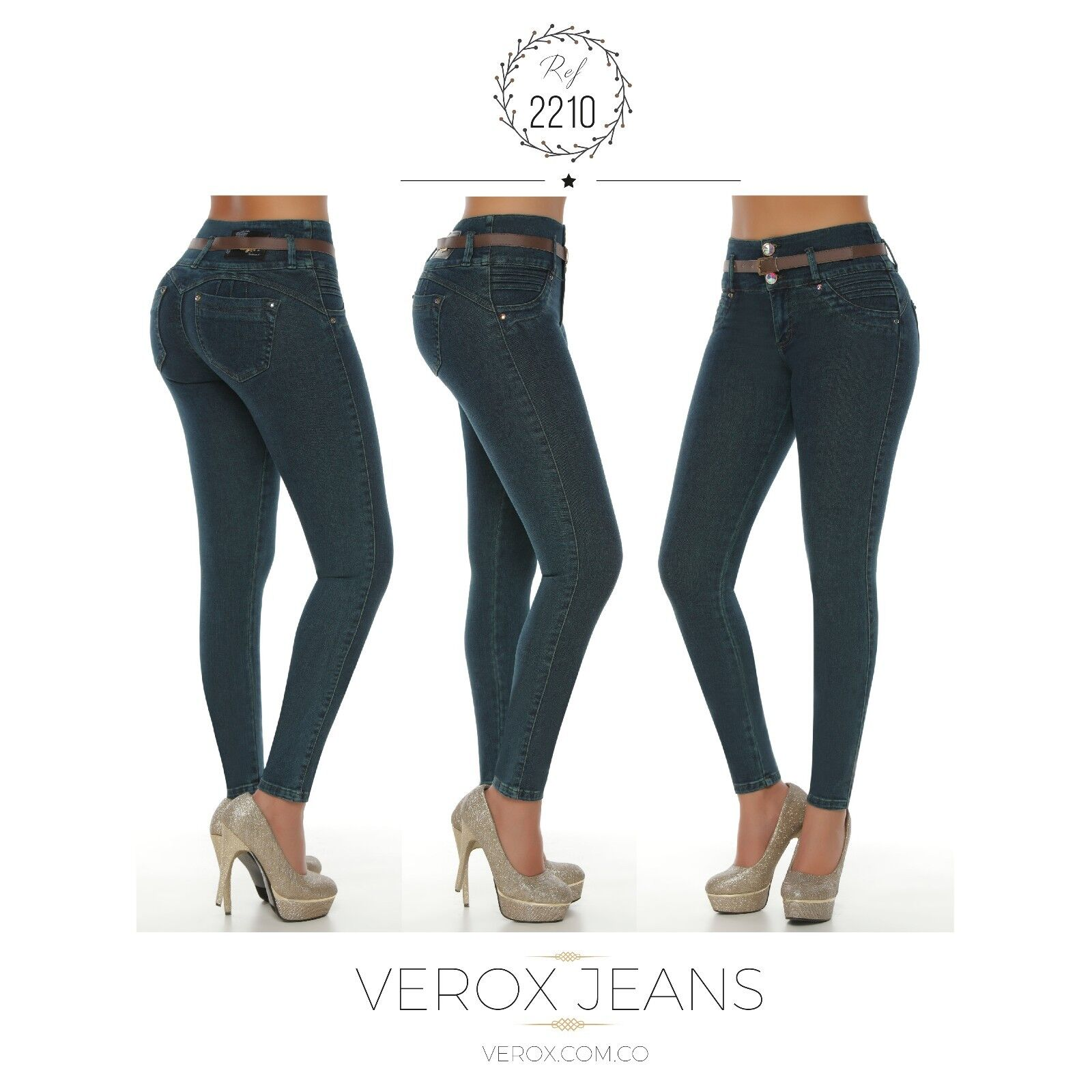 Verox Jeans colombianos butt lifter fajas colombianas jeans levanta cola 2210