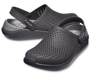 Mens Crocs Literide Black Clog Closed