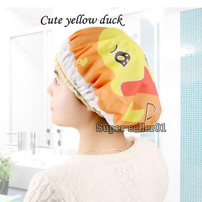 Neu Fashion Spa Bouffant Shower Dusche Wasserdicht Duschhaube Cap Mütze